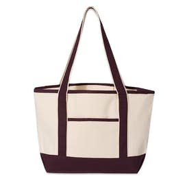 Medium Premium Cotton Boat Tote