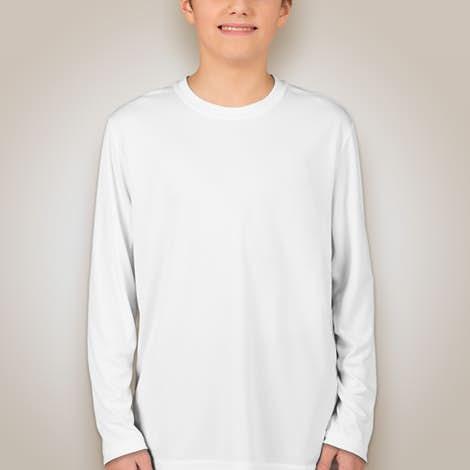 Sport-Tek Youth Competitor Long Sleeve Performance Shirt - White
