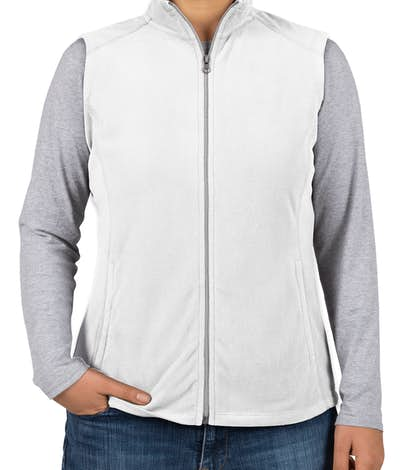Port Authority Ladies Microfleece Vest - White