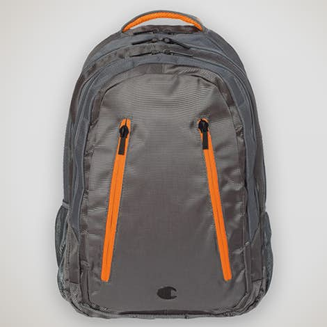 "Champion Ambition 15"" Computer Backpack - Grey / Orange"
