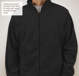 Harriton Full Zip Fleece Jacket - Color: Black
