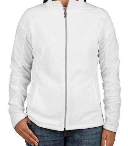 Port Authority Ladies Full Zip Microfleece Jacket - White