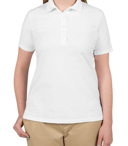 Hanes Ladies X-Temp Polo - White