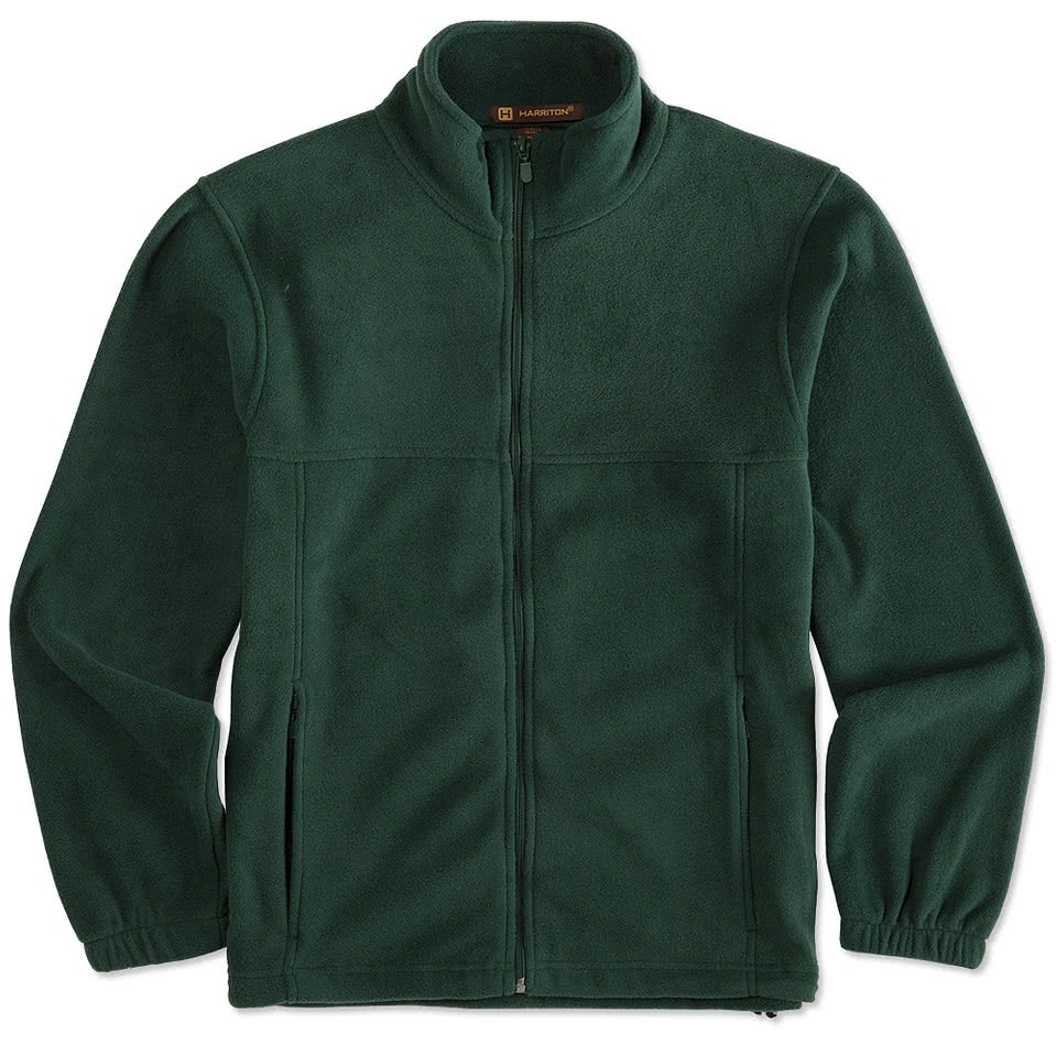 Custom Harriton Full-Zip Fleece Jacket - Design Fleece Jackets ...