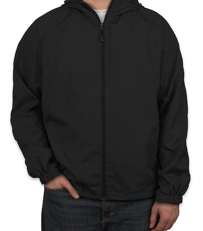 Sport-Tek Full Zip Hooded Jacket - Black