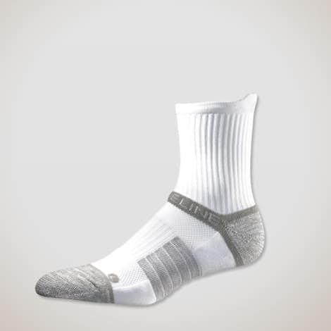 Premium Compression Mid Length Socks - White