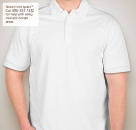 Port Authority Silk Touch Performance Polo - Embroidered  - Color: White