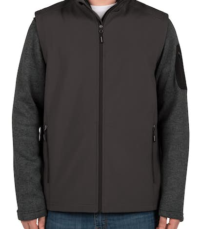 Core 365 Fleece Lined Soft Shell Vest - Carbon