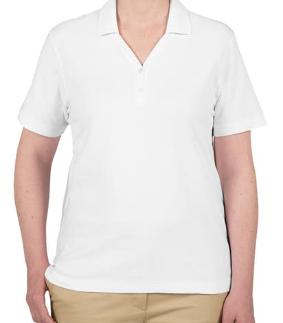 Devon & Jones Ladies Pima Pique Polo - White