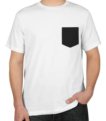 custom canvas jersey contrast pocket t shirt design