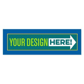 11.5 in. x 3.75 in. Rectangular Bumper Sticker