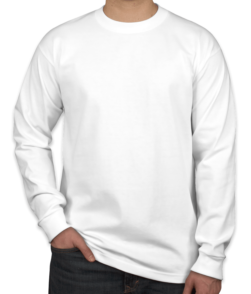 Custom Bayside 100% Cotton USA Long Sleeve T-shirt - Design Long ...