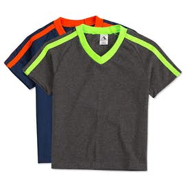 Augusta Youth Shoulder Stripe Jersey T-shirt