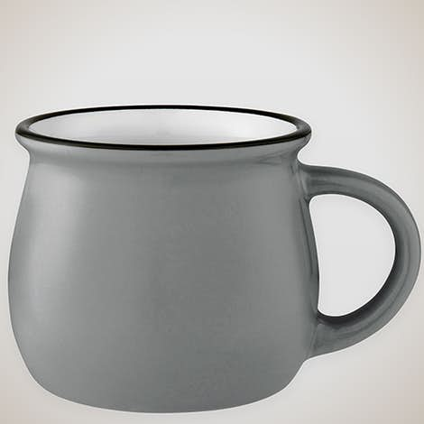 14 oz. Two-Tone Tulip Mug - Grey