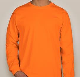 Gildan Ultra Cotton Long Sleeve T-shirt - Color: Safety Orange