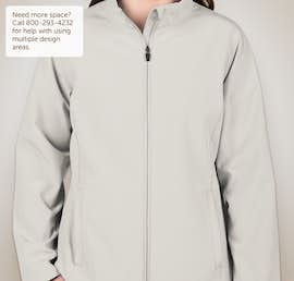 Team 365 Ladies Soft Shell Jacket - Color: Sport Silver