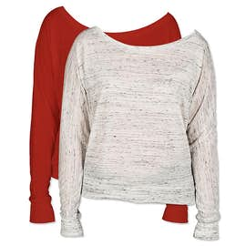 Bella Ladies Flowy Long Sleeve Off Shoulder T-shirt