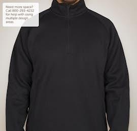 Devon & Jones Quarter Zip Sweater Fleece Pullover - Color: Navy