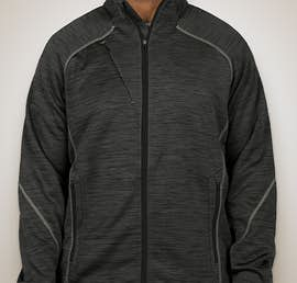 North End Melange Tech Fleece Lined Jacket - Color: Carbon / Black