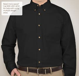 Featherlite Stain Resistant Twill Shirt - Color: Onyx Black / Stone