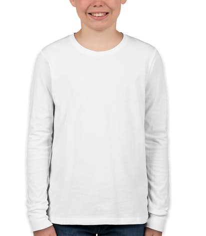 Canvas Youth Long Sleeve Jersey T-shirt - White