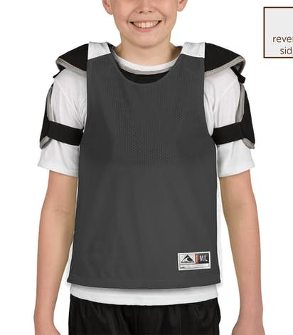 Augusta Youth Reversible Colorblock Practice Pinnie - Black / White