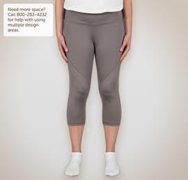 Augusta Ladies Action Performance Capri Pant - Color: Graphite / Graphite