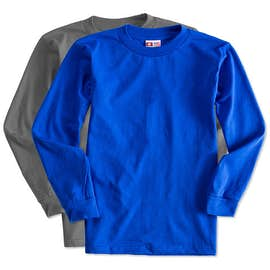 Bayside 100% Cotton USA Long Sleeve T-shirt
