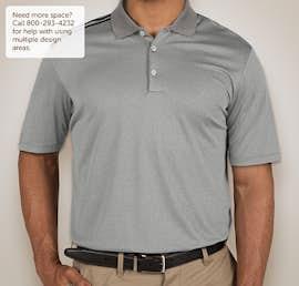 Adidas Climacool 3-Stripes Shoulder Polo - Color: Medium Grey Heather