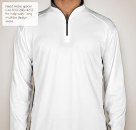 Badger Contrast Quarter Zip Performance Shirt - Color: White / Graphite
