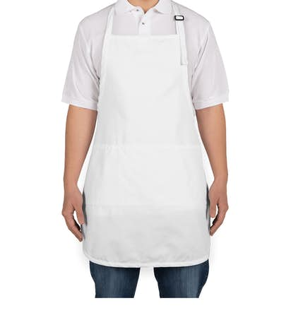 Stain Release Full Length Apron - Screen Printed - White