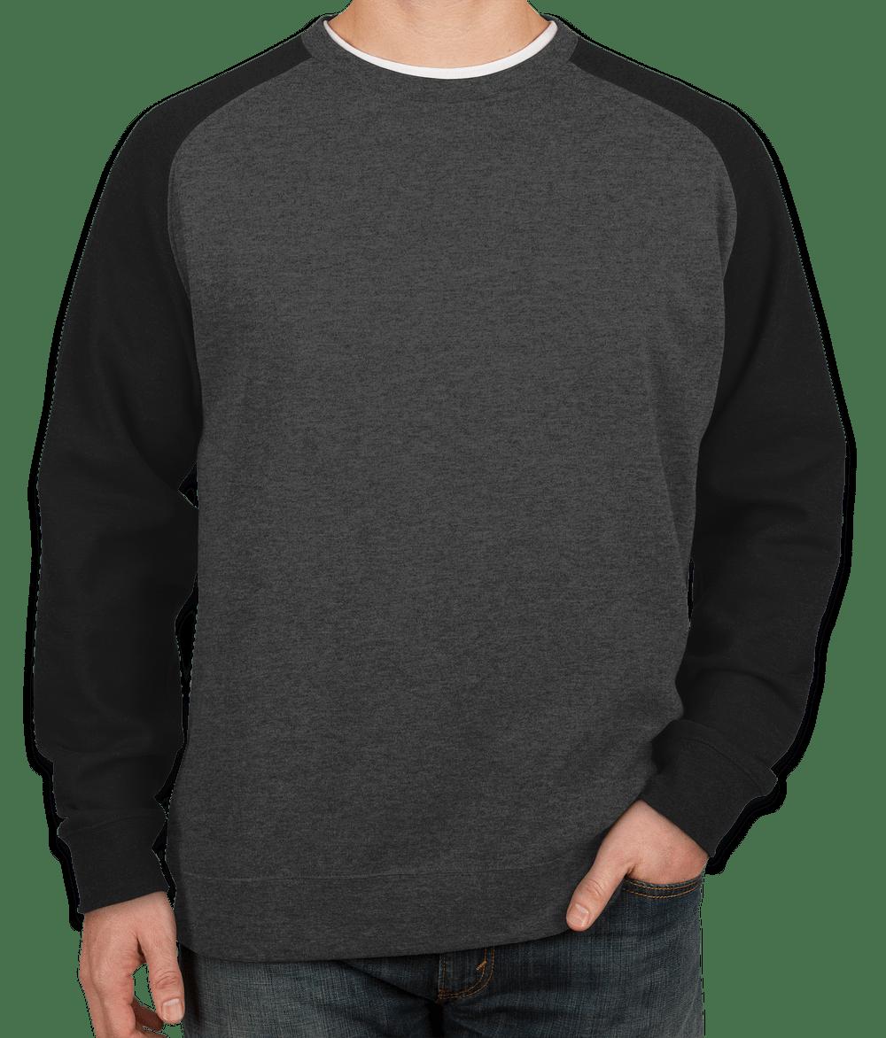 Custom Independent Trading Heather Raglan Crewneck Sweatshirt ...