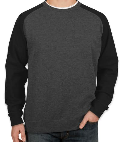 Custom Independent Trading Heather Raglan Crewneck Sweatshirt ...