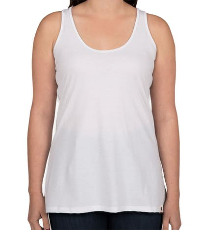 Champion Authentic Ladies Tri-Blend Swing Racerback Tank - White