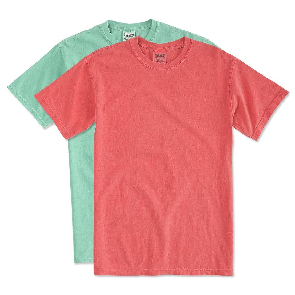 Custom Comfort Color T Shirt - Worksheet & Coloring Pages
