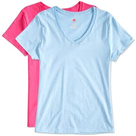 Hanes Ladies V-Neck Nano-T