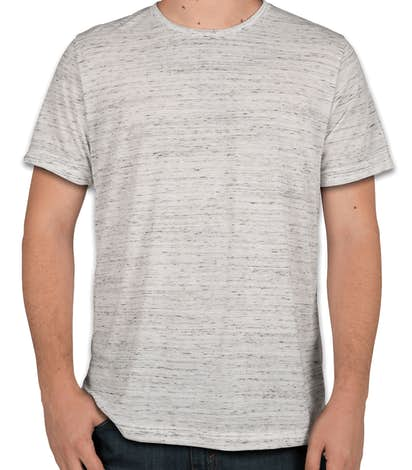 Canvas Melange Blend T-shirt - White Marble