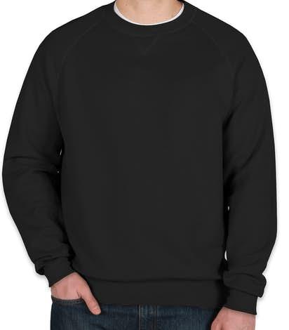 Hanes Nano Crewneck Sweatshirt - Black