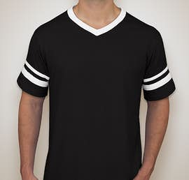 Augusta Double Sleeve Stripe Jersey T-shirt - Color: Black / White