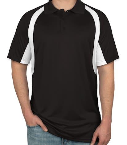 Badger B-Dry Contrast Performance Polo - Black /  White