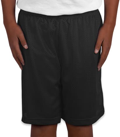 Sport-Tek Youth Mesh Shorts - Black