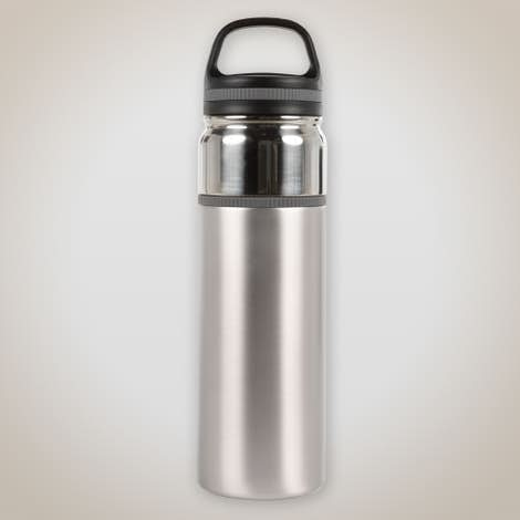 32 oz. Double Wall Insulated Contrast Stainless Steel Bottle - Silver