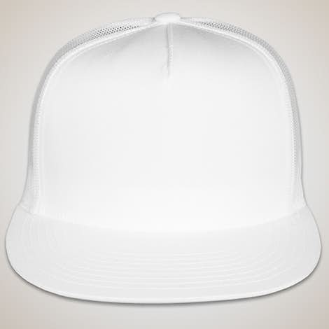 Yupoong Solid Classic Trucker Hat - White