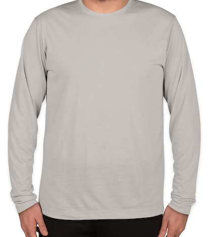 Sport-Tek Soft Jersey Long Sleeve Performance Shirt - Silver