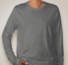 Bella + Canvas Tri-Blend Long Sleeve T-shirt - Color: Grey Tri-Blend