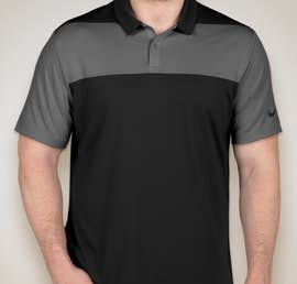 Limited Edition Nike Colorblock Performance Polo - Color: Black / Dark Grey