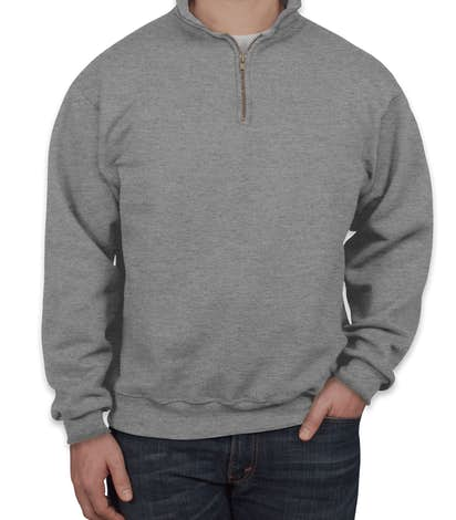Jerzees Super Sweats® 50/50 Quarter Zip Sweatshirt - Oxford