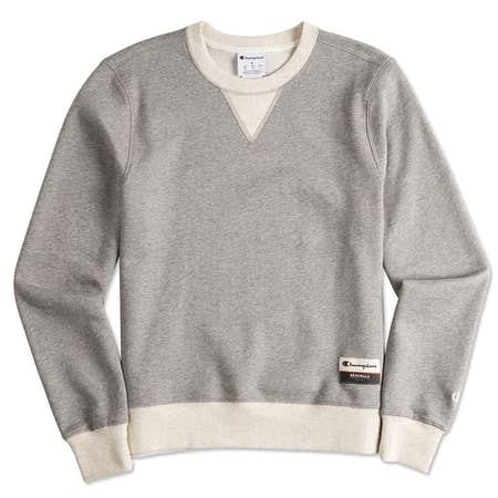 Design Champion Authentic Sueded Fleece Crewneck Sweatshirts at ...