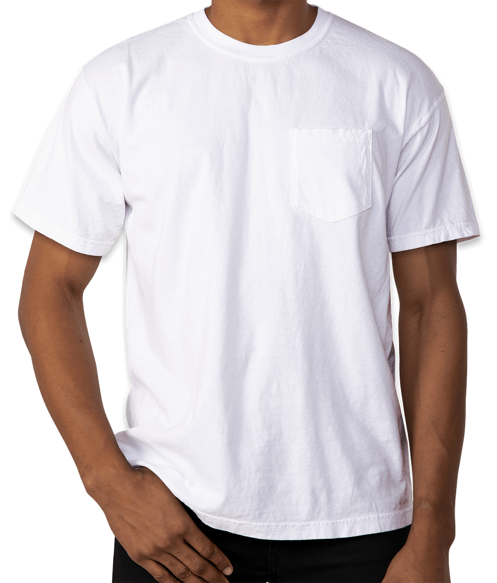 Custom Comfort Colors 100% Cotton Pocket T-shirt - Design Short ...