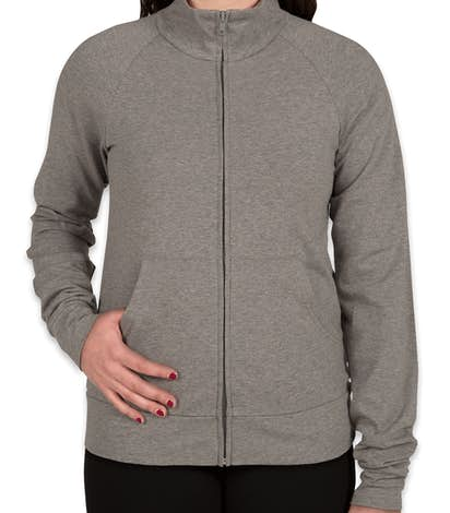 Bella Ladies Stretch Full Zip Jacket - Deep Heather